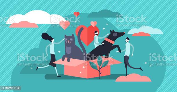 Animal shelter vector illustration flat tiny pets adoption persons vector id1152531160?b=1&k=6&m=1152531160&s=612x612&h=7uslpcoo aowdvhluu wtvlpvzwfdlfnlsp8qbfchwa=