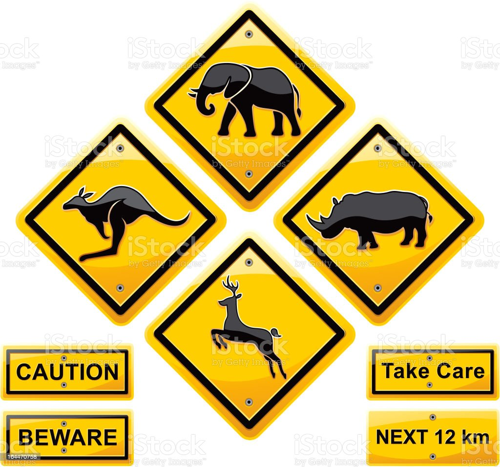Animal sign traffic vector art illustration
