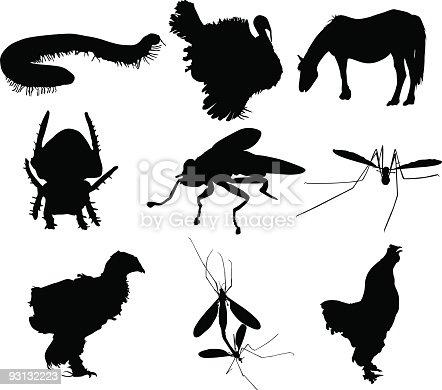 istock Animal silhouettes 93132223