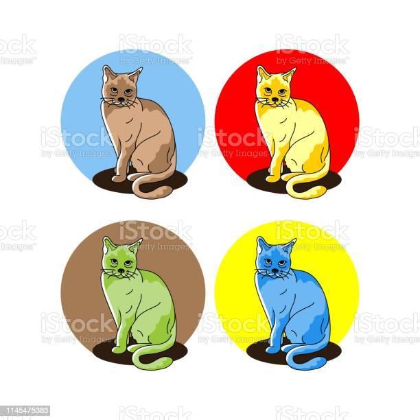 Animal sitting cat vector illustration cartoon pet drawing vector id1145475383?b=1&k=6&m=1145475383&s=612x612&h=nhbduwa fsotj4vzt3jk7fafv634tzlpipiloq5wzm8=