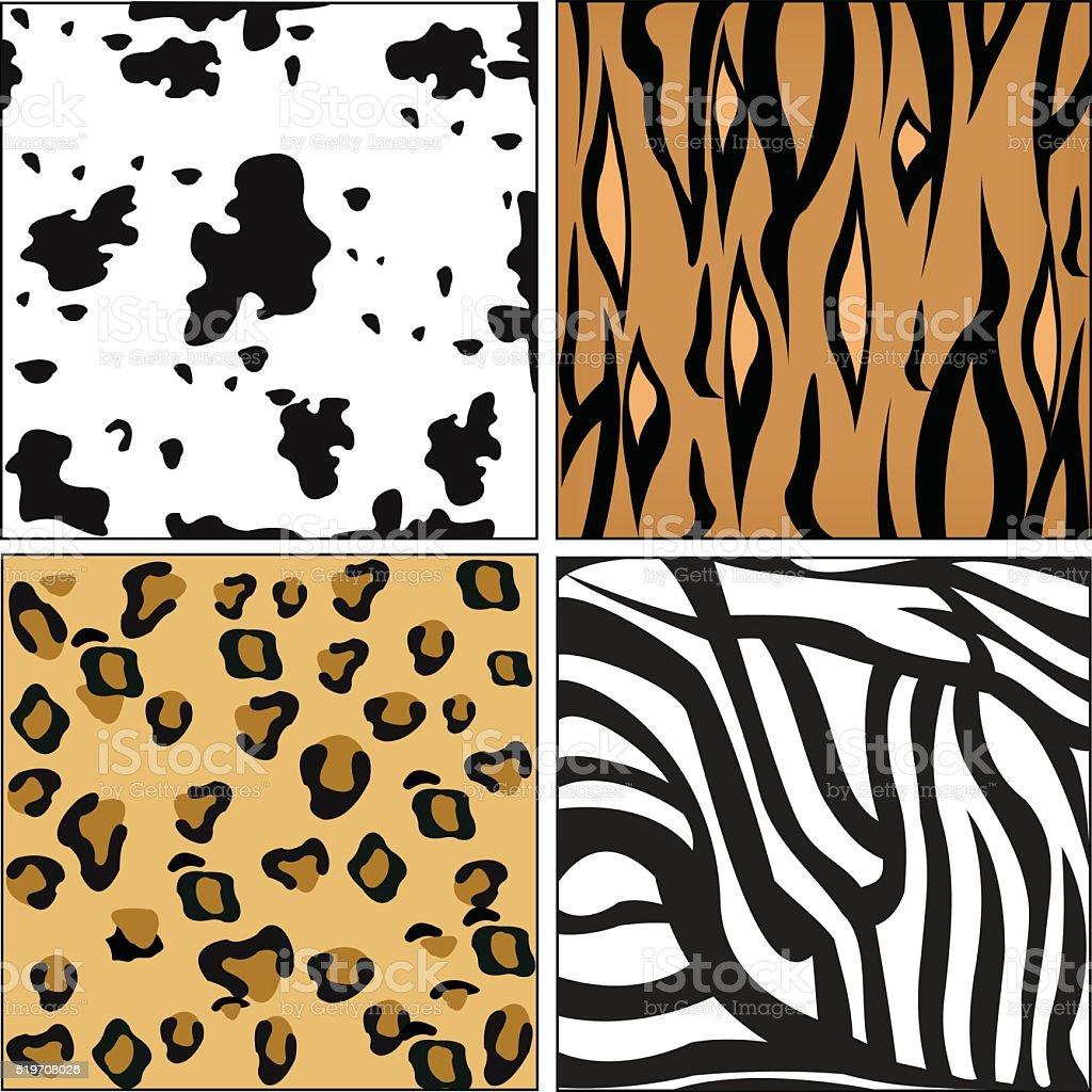 Animal skin pattern vector art illustration