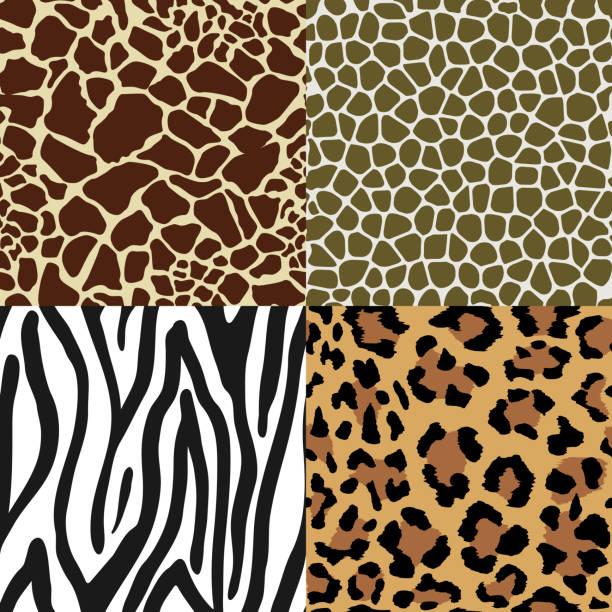 動物の皮膚のパターン - ヒョウのテクスチャ点のイラスト素材/クリップアート素材/マンガ素材/アイコン素材