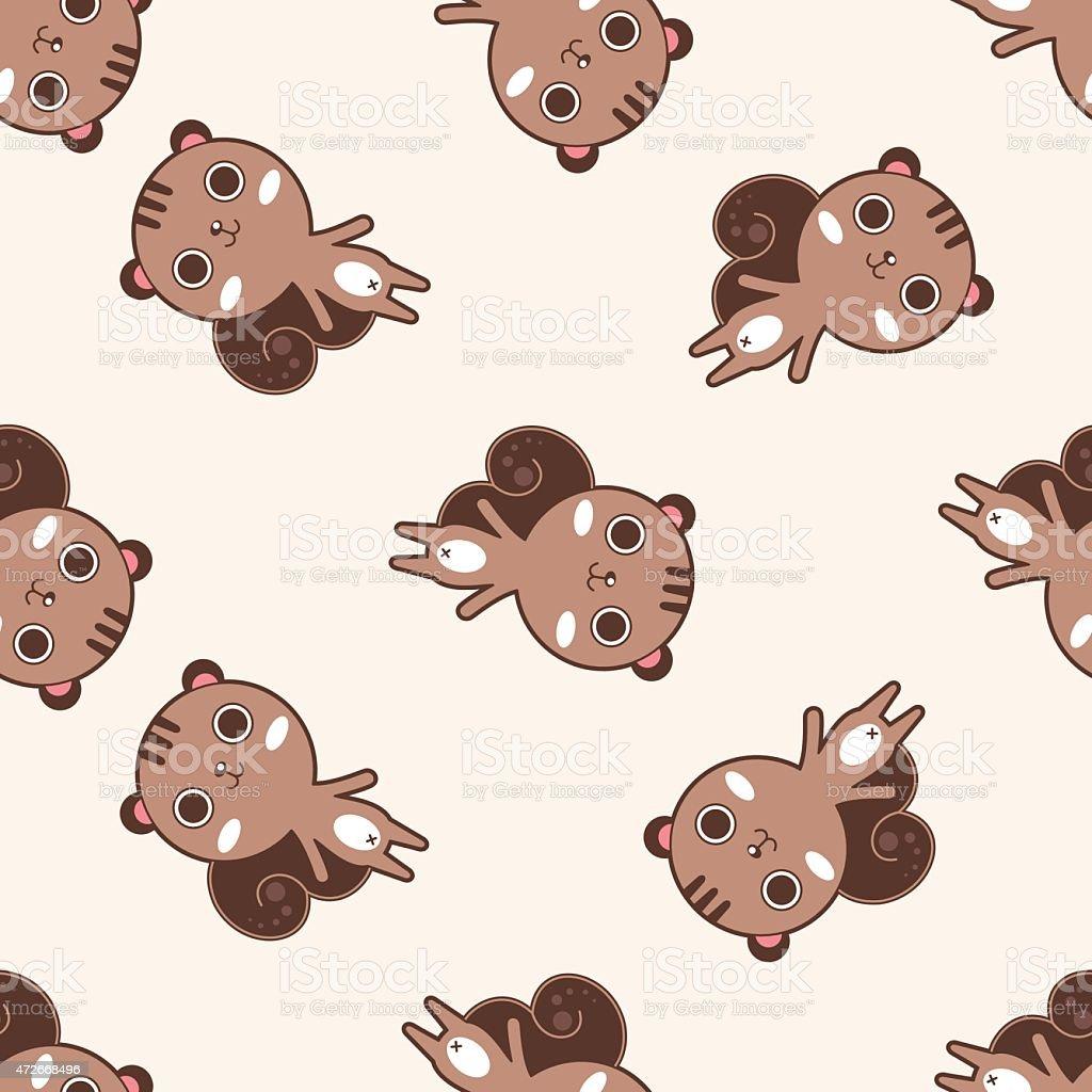 リス漫画漫画の動物のシームレスなパターン背景 のイラスト素材