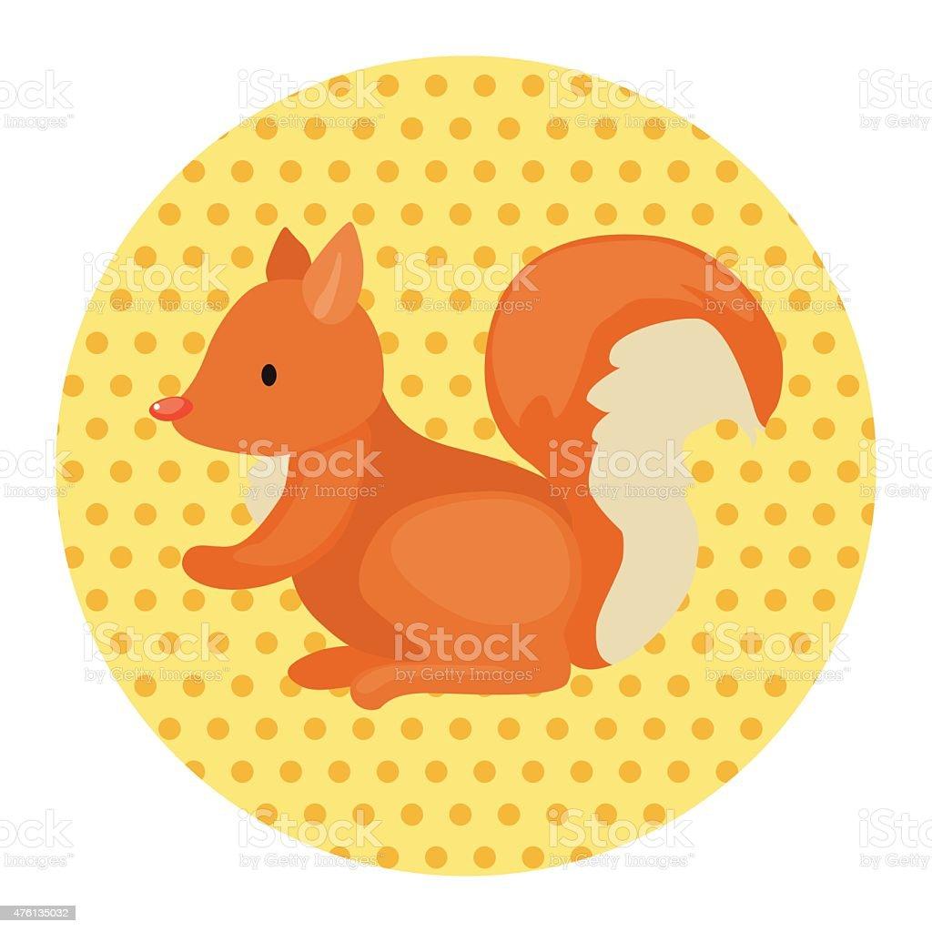 動物リスカットイラストテーマの要素 のイラスト素材 476135032 | istock