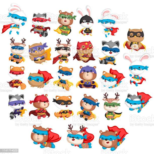 Animal superhero collection vector id1141714320?b=1&k=6&m=1141714320&s=612x612&h=p7f03ye9h ornbipctzyqxjui2zz25 1wsfguvps6zo=