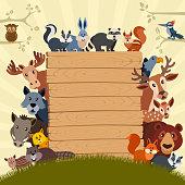 Animal Theme Birthday Party Invitation