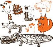 Animal theme doodles