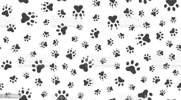 Animal tracks vector seamless pattern with flat icons black white vector id1159360690?b=1&k=6&m=1159360690&s=612x612&h=dhpbm1rcppggnhbt5h0 ndtsjw3m q1mi1rkdoi 3v4=