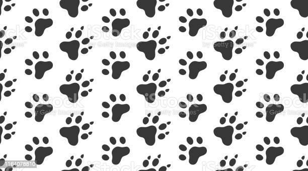 Animal tracks vector seamless pattern with flat icons black white vector id1164078810?b=1&k=6&m=1164078810&s=612x612&h=yp y6irasitj6ela9vuvch2vwsf1 vfzeymeisbhehq=
