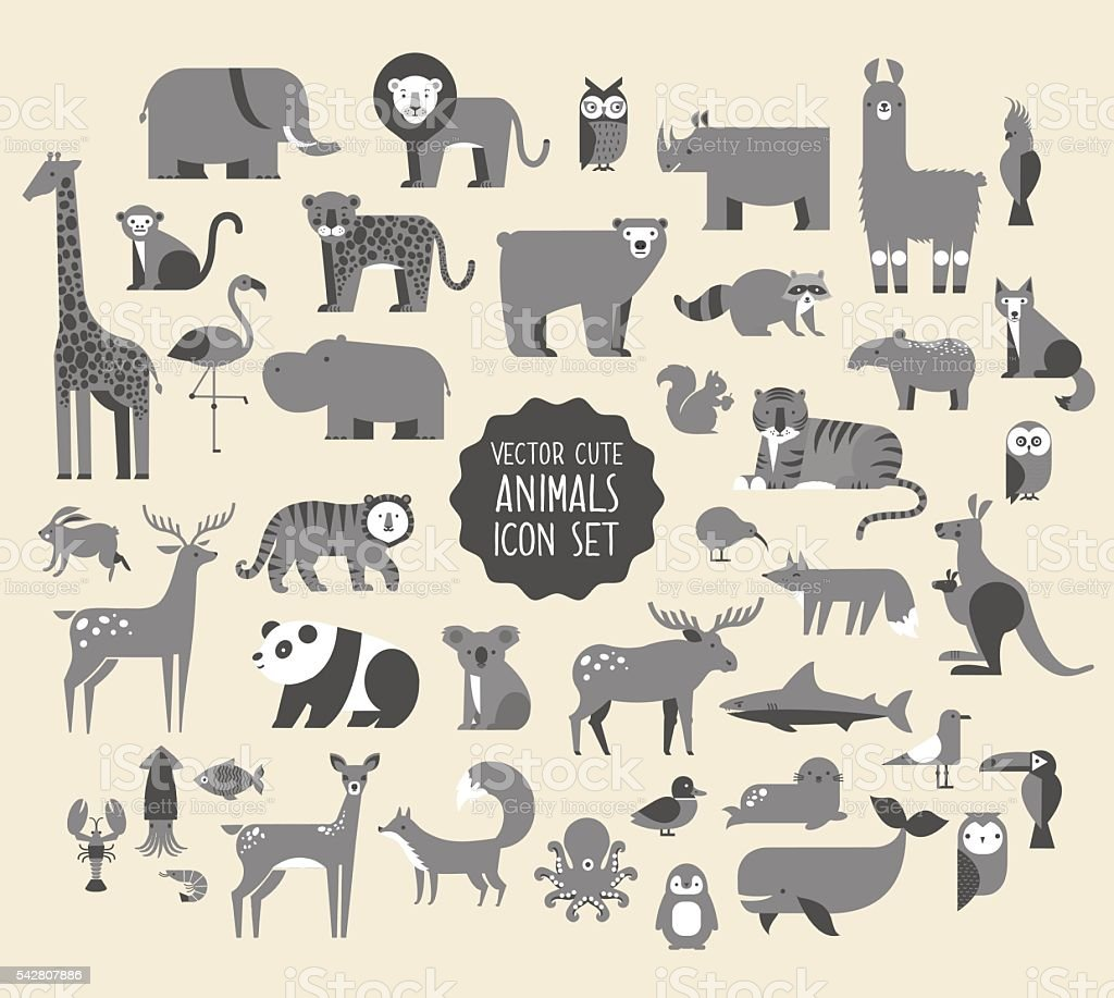 Animal Vector Icon Set.