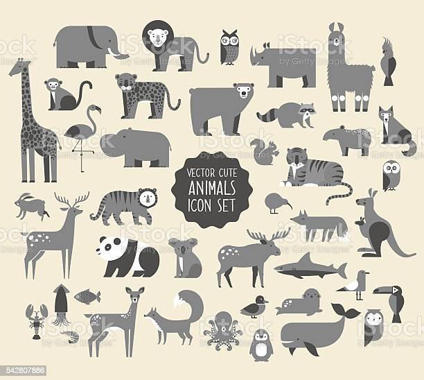 Animal vector icon set vector id542807886?b=1&k=6&m=542807886&s=612x612&h=jaabswtujfwehih1pl4d8rrmxccl2xixpns684zhoiu=