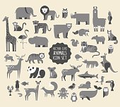 Animal Vector Icon Set.