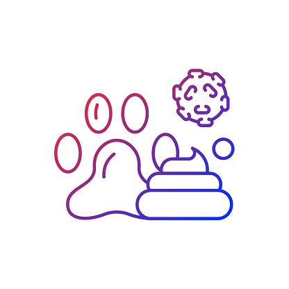 Animal waste gradient linear vector icon