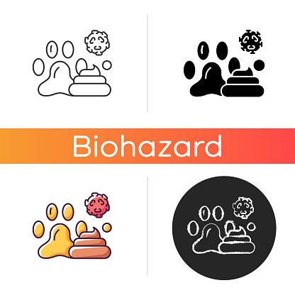 Animal waste icon