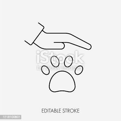 istock Animal Welfare Icon.Editable Stroke 1218100801