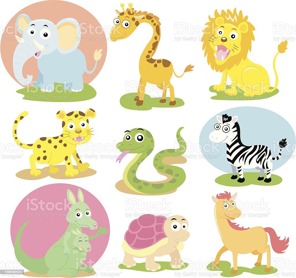 animal wildlife set royalty-free stock vector art