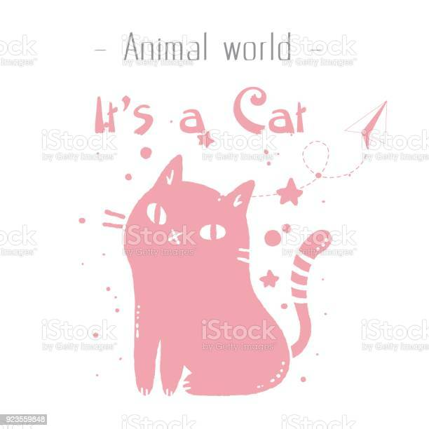 Animal world its a cat pink cat background vector image vector id923559848?b=1&k=6&m=923559848&s=612x612&h=mcen uwikydsytcdeavogtwyp yivpipsmmxu48sbsc=