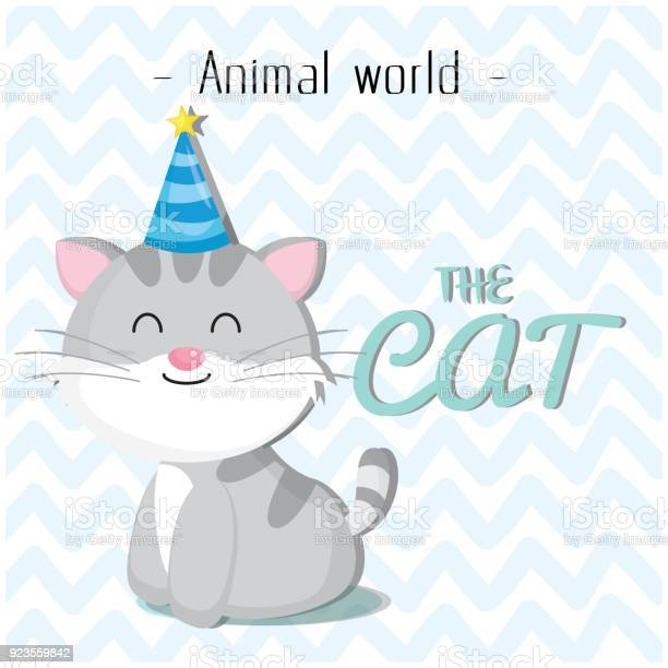 Animal world the cat wearing a party hat background vector image vector id923559842?b=1&k=6&m=923559842&s=612x612&h=flhyakidfh7tyxuxubp6gkkg8cyzpjtlkpdlwhhrvc4=