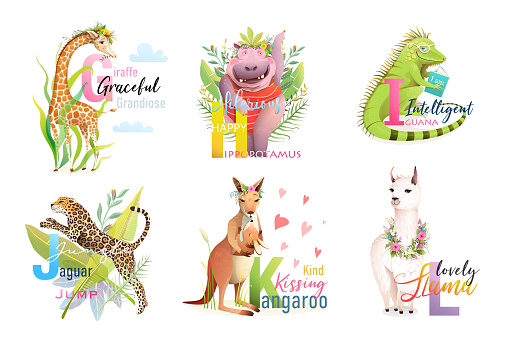 Animals ABC Alphabet School Collection for Kids