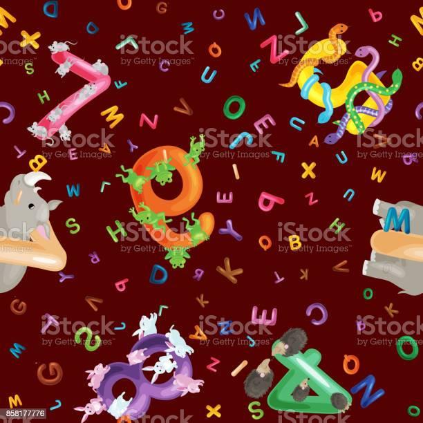 Animals alphabet background set of cartoon english type letters with vector id858177776?b=1&k=6&m=858177776&s=612x612&h=sgjtkwz9vk cnfmv5viackcks1vhmozmdgzjbyeczbo=