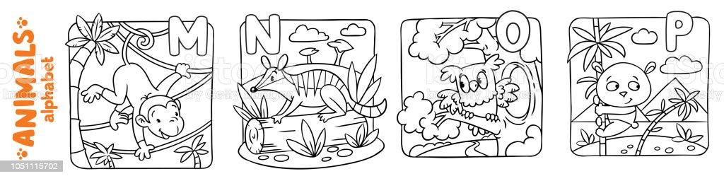 Ilustración de Alfabeto De Animales O Abc Conjunto De Libro Para ...