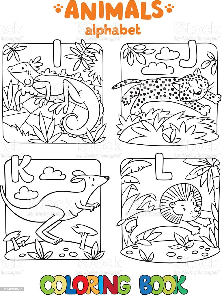 animals alphabet or abc coloring book stock vector art 614858672
