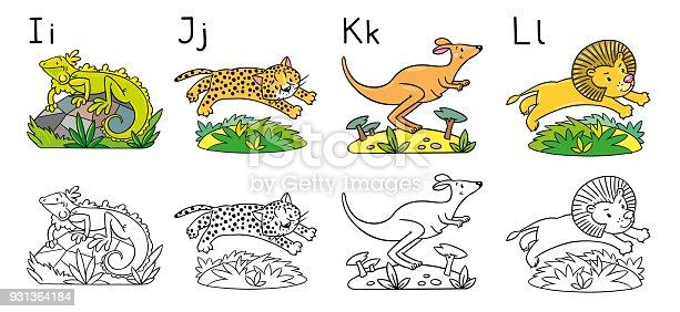 istock Los animales alfabeto o ABC. Libro para colorear 500184522 ...