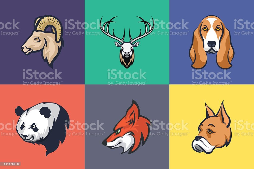 Animals and Birds Colored Illustrations 3 vector art illustration