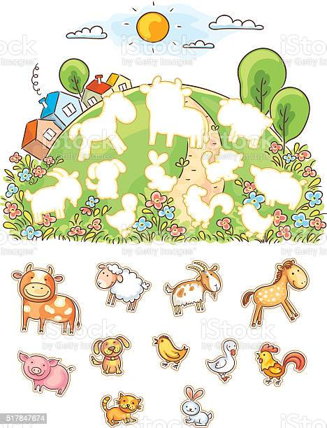 Animals and their shapes matching game vector id517847674?b=1&k=6&m=517847674&s=612x612&h=6p3dd rc87xxdw0mkdaml1xpr uiwzlhprtj 5kbp w=