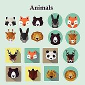 Animals avatars set