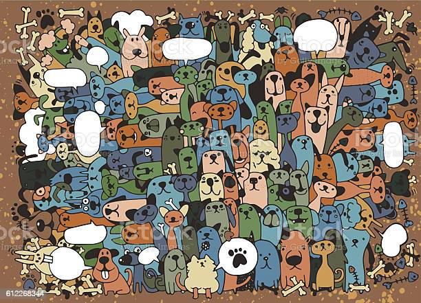 Animals cats and dogs vector pattern hand drawn doodles pets vector id612268344?b=1&k=6&m=612268344&s=612x612&h=gdakeue 8lb4eohnnnq175i85nfczrontlaxhf nx6q=