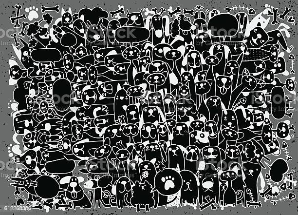 Animals cats and dogs vector pattern hand drawn doodles pets vector id612268386?b=1&k=6&m=612268386&s=612x612&h=yzmbdw vyptspjmcz4humd7oukjioqvmvrqwgowtesa=