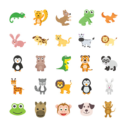 Animals Colored Vector Icons 3