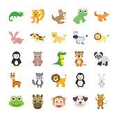 This Cute Animals Vector Icons Set would be perfect for all your kiddo projects, animal themed work scrapbook pages for your kids or playful greeting cards.
