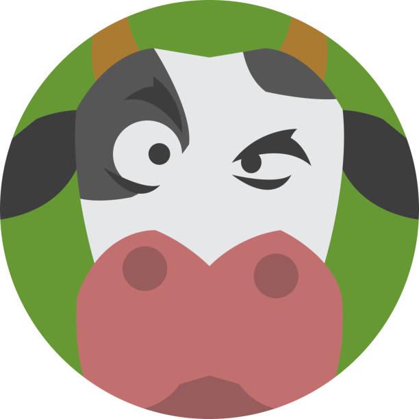 animals emotions icons vector set. - lustige kuh bilder stock-grafiken, -clipart, -cartoons und -symbole