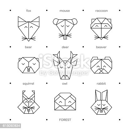 Animals Farm Origami 8 Stock Vector Art More Images Of Animal