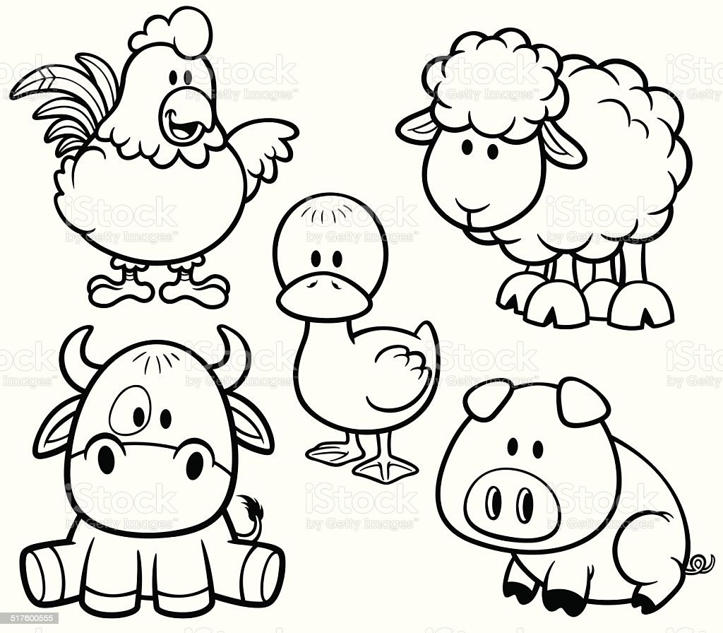 Animals Farm Stock Illustration Download Image Now Istock