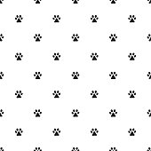 Seamless pattern with animal's footprint. Picture ready for use in World Wildlife Day thematic .
