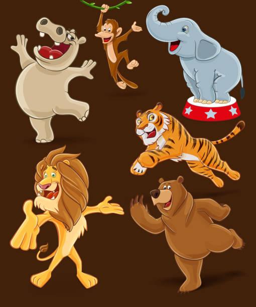 animals for circus animals for circus illustration animal costume stock illustrations