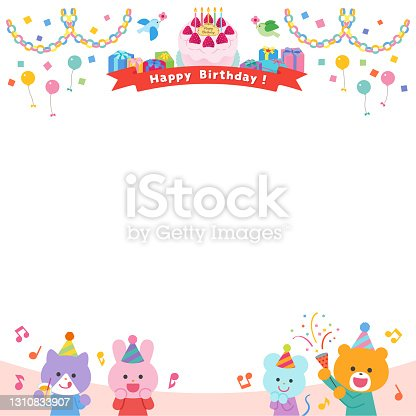 istock Animals having a birthday party / Frame 1310833907