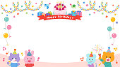 Animals having a birthday party / Frame