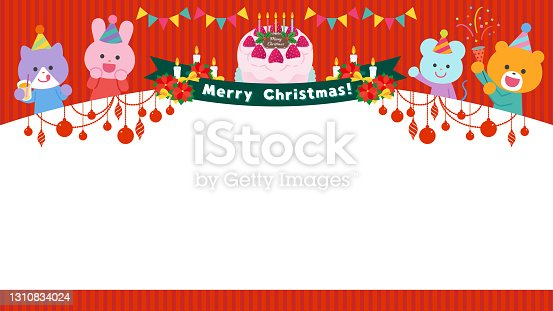 istock Animals having a Christmas party / Frame 1310834024