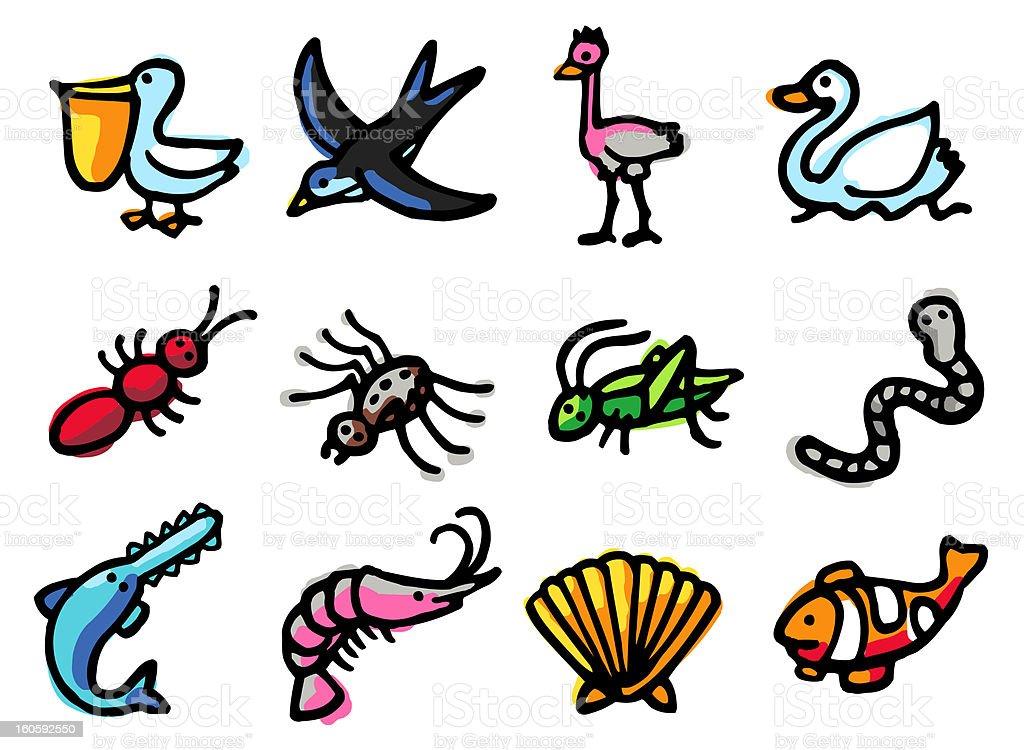 animals icon set royalty-free stock vector art
