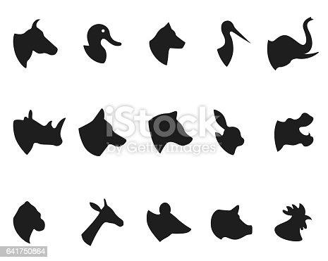 Animals icons , vector illustration