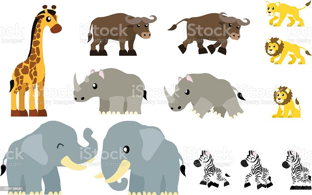 Animals Illustration - African Animals I vector art illustration