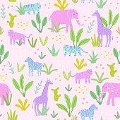 Animals in the jungle.