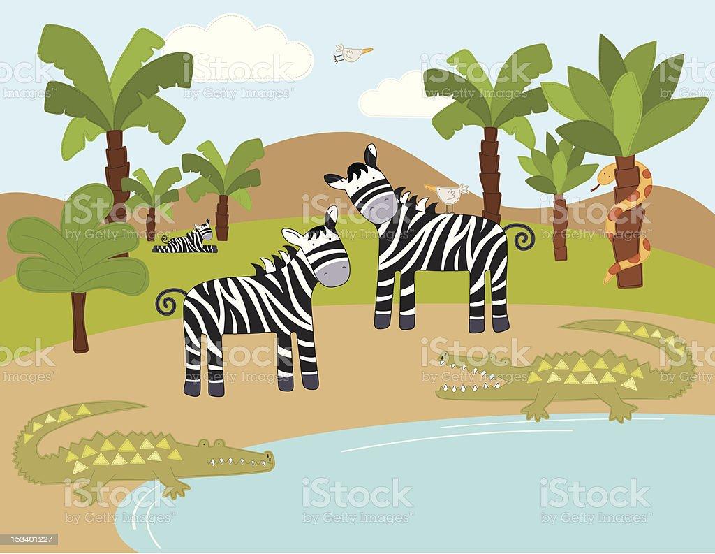 Animals in the Wild (Series) vector art illustration