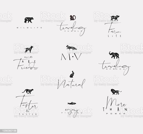 Animals mini floral graphic signs vector id1056360156?b=1&k=6&m=1056360156&s=612x612&h=d1j1nvhlqbyjraryhmbmfqq49jixskb3c92eojuby2a=