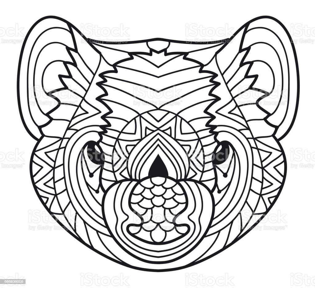 animals of australia tasmanian devil coloring book stock vector