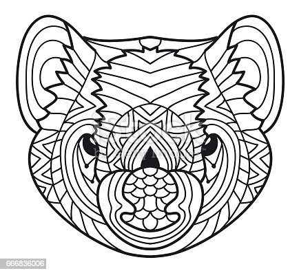 Animals Of Australia Tasmanian Devil Coloring Book Stock Vector Art More Images Animal 666836006
